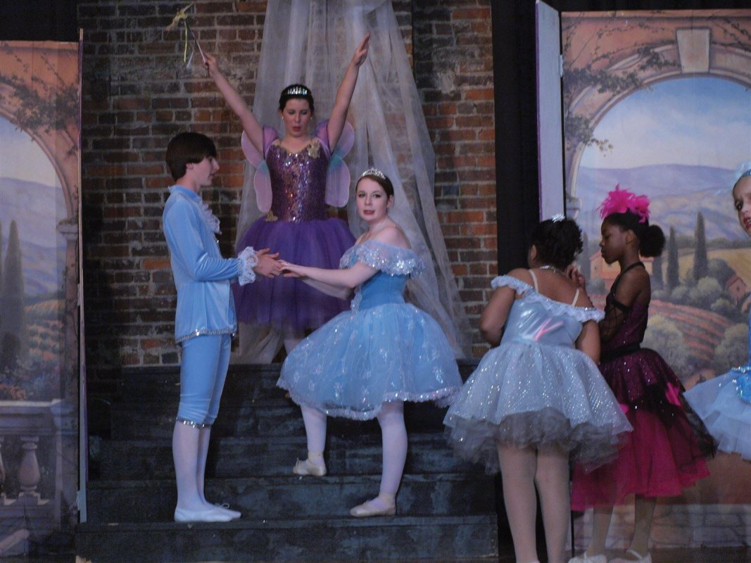 A still from Cinderella, part of the 2013 Miss Susan's School of Dance Spring Recital, available on DVD through Pecan Ridge Productions.