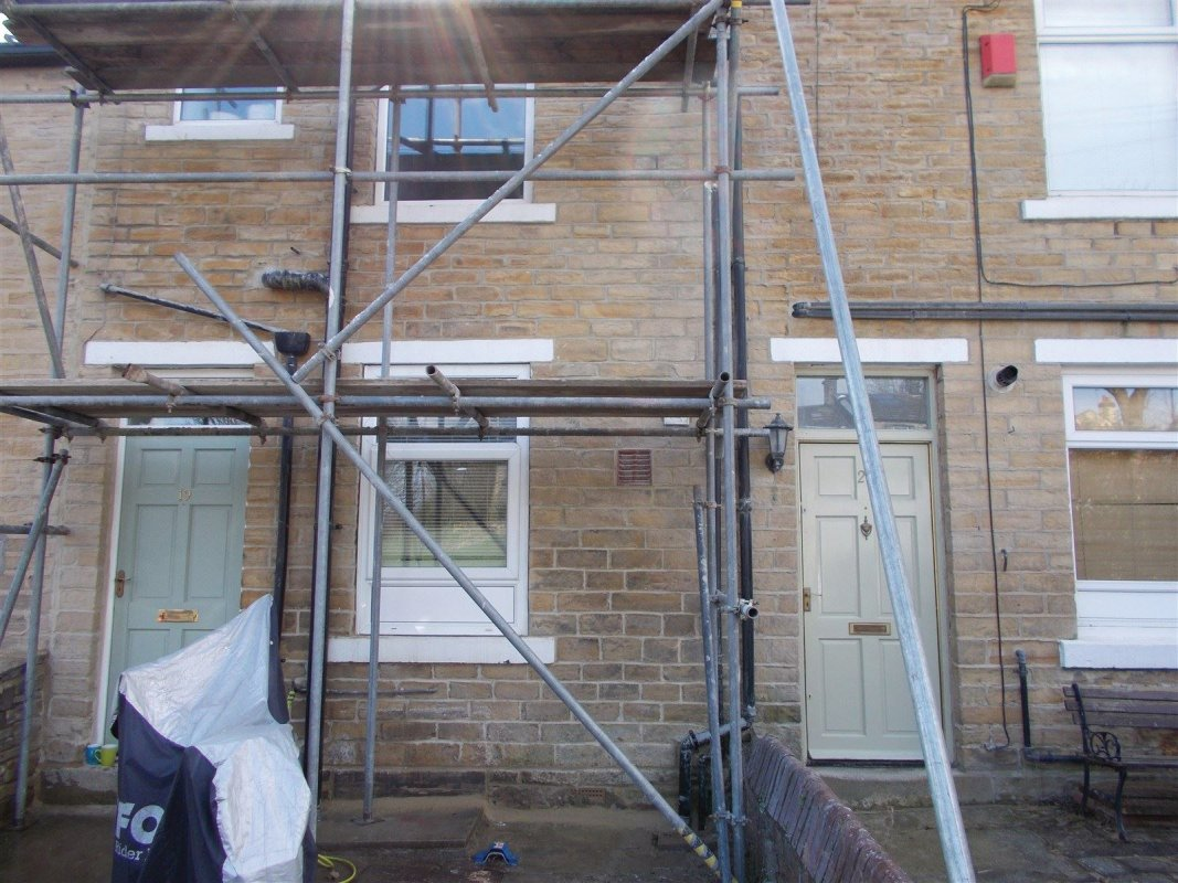 completed pointing of yorkshire stone in  farsley