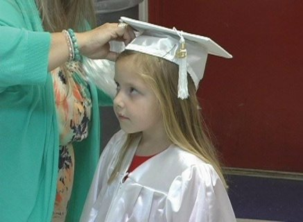 A screenshot from the behind the scenes footage to be included in the Fort Dale Academy Kindergarten Graduation 2013 video, to be available through Pecan Ridge Productions.